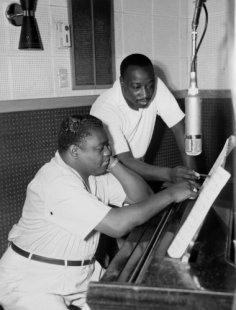 Fats Domino (left) and Dave Bartholomew generated a mountain of hits, all recorded from studios run by Cosimo Matassa.