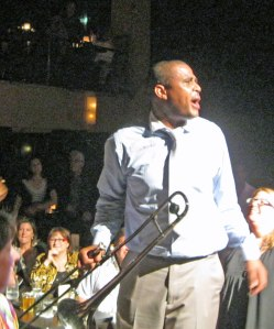 "Glen David Andrews singing at Dimitriou's Jazz Alley as part of the ""Treme Tour"" a couple years back."