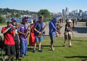Olympia brass band, Artesian Rumble Arkestra, regularly plays Honkfest which is now timed with the Fremont Festival.