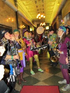 My favorite venue was the hallway of the Securities building, allowing the band to serenade patrons at Dillingers and Rumors Wine Bar.