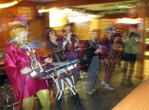 Artesian Rumble Arkestra marched through downtown and 11 pubs last night, carrying the spirit of carnival with them.