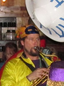 David Moseley, sousaphonist for Olympia's Artesian Rumble Arkestra and KAOS Deejay, will host Sweeney's Gumbo YaYa Monday.
