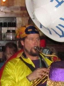 David Moseley, sousaphonist for Olympia's Artesian Rumble Arkestra and KAOS Deejay, will host Sweeney's Gumbo YaYa Monday.