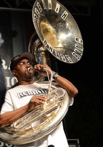 Phil Frazier, founding member and anchor of Rebirth Brass Band.