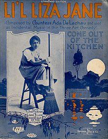 First printed in 1916, L'il Liza Jane's history likely dates back to minstrel shows.