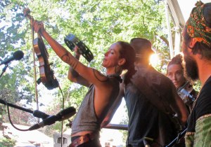 Sisters Leah Song (left) and Chloe Smith of Rising Appalachia lived and performed in New Orleans for seven years.