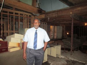 Kenneth Jackson, grandson of the Frank Painia who started the Dew Drop Inn in 1939, keeps the flame alive for bringing the establishment back to its former glory.