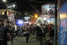 Last night's honk band performing down at the nightclub side of Frenchmen